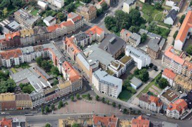 Lindenauer Markt Luftbild