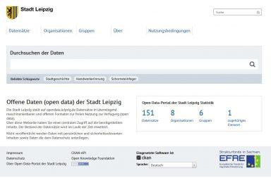 Screeenshot Open Data Stadt Leipzig