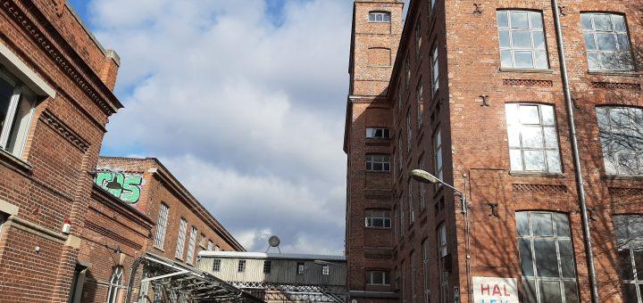 Foto von den Gebäuden der Baumwollspinnerei