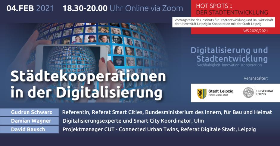 Flyer mit Infos zur 3. Veranstaltung HotSpots, Infos können alle dem Artikel entnommen werden