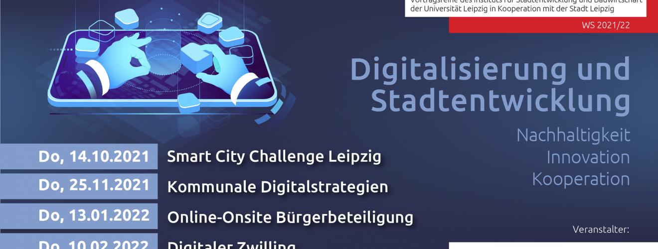 Flyer HOTSPOTS:: Der Stadtentwicklung Veranstaltungsreihe Wintersemester 2021, alle Infos im Artikel